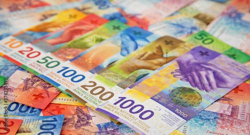 Swiss francs Canvas Print