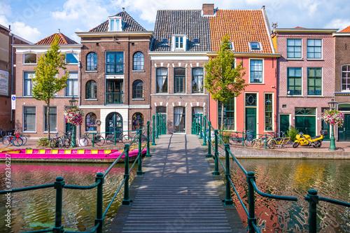 Papel de parede Leiden City in the Netherlands.