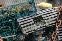 Mixed Old And New  Lobster Cages