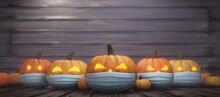 Halloween Concept With Corona ...