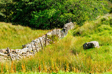 Typical Dry Stone Wall In The Countryside Of The Lake District UK