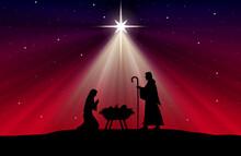 Christmas Nativity Scene Backg...
