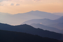 Mountains Silhouettes At Sunset