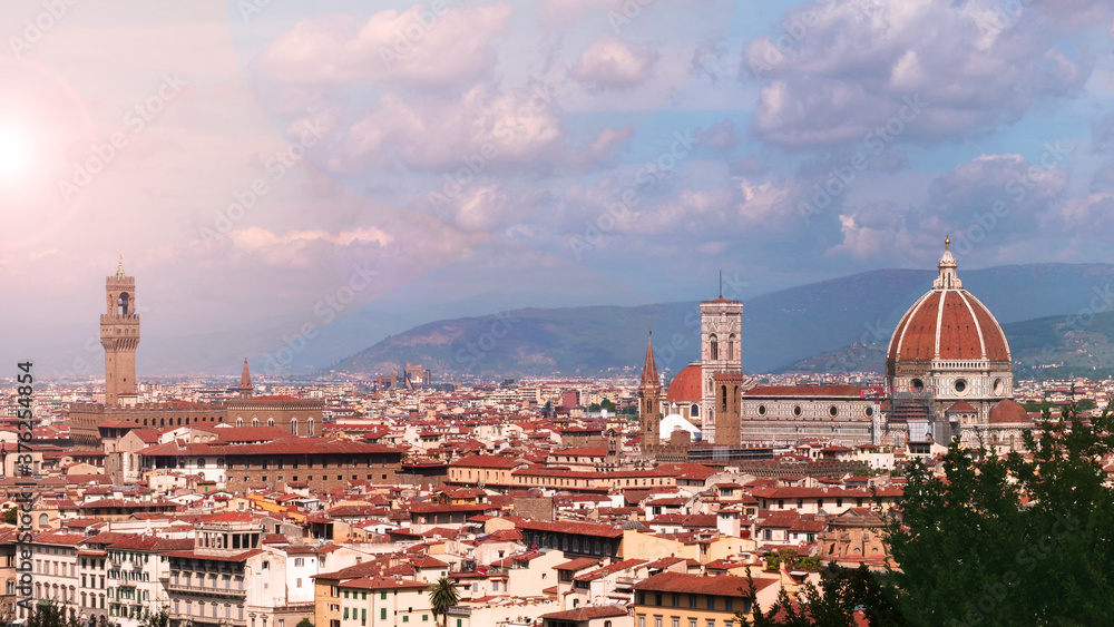 a view of a famous city of Florence