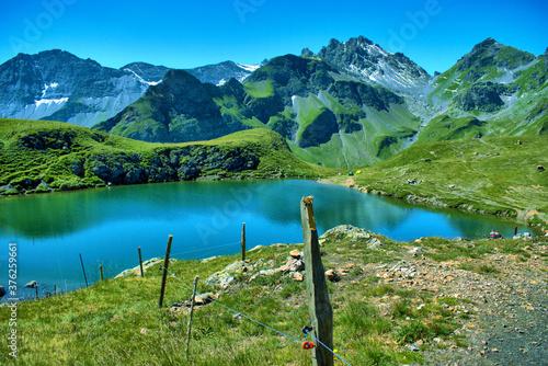 Papel de parede Alpsee auf dem Pizol in der Schweiz 7.8.2020