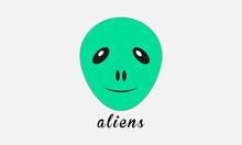 Alien Logo Vector Design Art