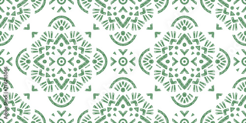 Fotomural Abstract oriental pattern in boho style, endless geometric background
