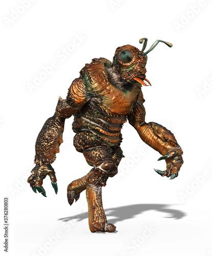 Vászonkép Insectoid Alien Walking