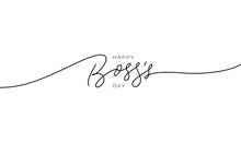 Happy Boss's Day Vector Line C...