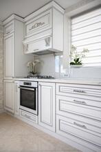 Luxury Modern Classic White Kitchen Interior