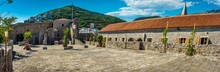 View From The 15th Century Venetian Citadel In Budva, Montenegro Towards The New Hotel Developments On The Hills Above The Town