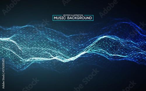 Slika na platnu Blue background design