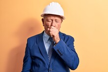 Senior Grey-haired Architect M...