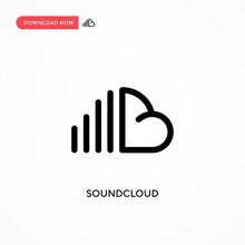 Soundcloud Vector Icon. Modern...