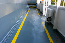 Safety Walkway On Ships Deck. ...