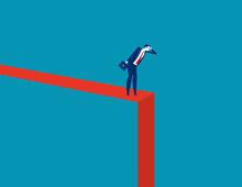 Symbol Of Crisis Recession. Do...