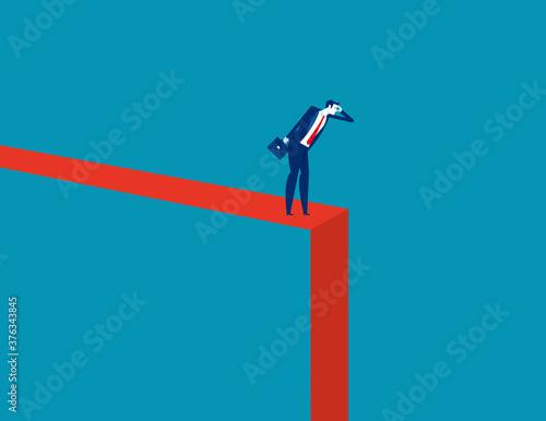 Symbol of crisis recession Canvas Print