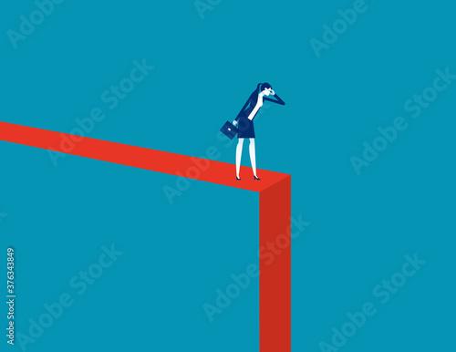 Photo Symbol of crisis recession