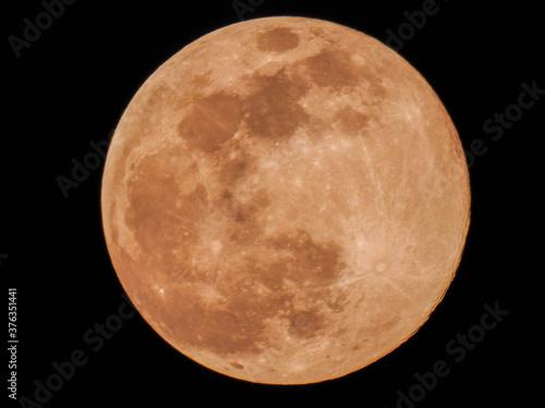 A full orange moon Fototapet