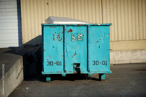 Industrial trash container #376352042