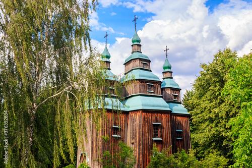 Fotografie, Obraz Ancient wooden orthodox church of St