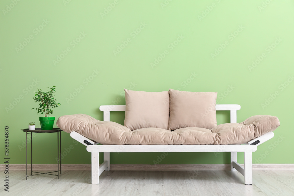Fototapeta Stylish modern sofa in room