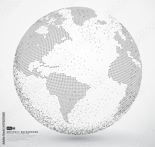 Abstract dotted globe earth Wallpaper Mural