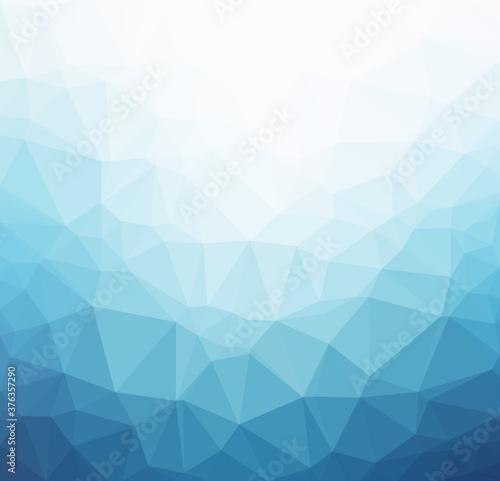 Obraz na plátně Light blue polygonal background