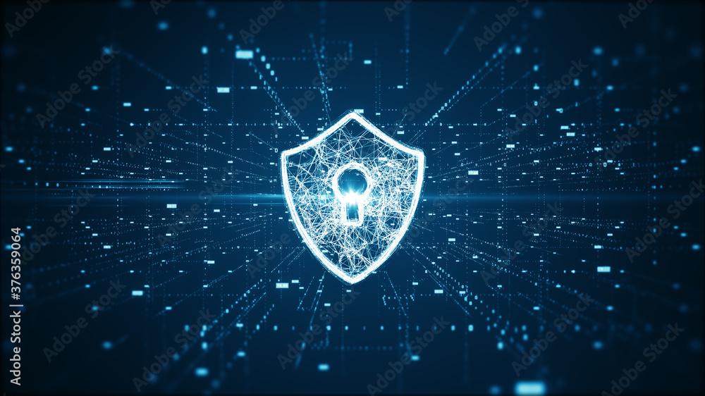 Fototapeta Cyber security concept.