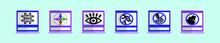 Neighborhood Watch Warning Sign Vector Illustration Isolated On Blue