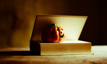 Halloween Pumpkin On A Book