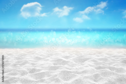 tropical sandy beach with hermit crab on white sand summer concept background Fototapet