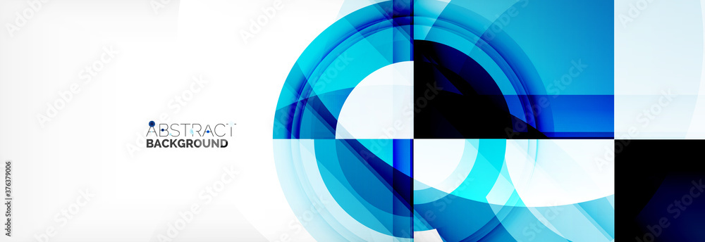 Fototapeta Round shapes, triangles and circles. Modern abstract background