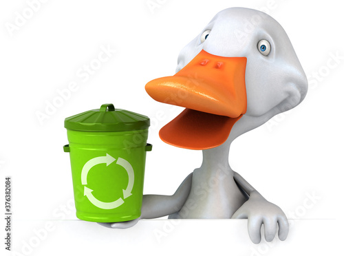 Fun duck - 3D Illustration Wallpaper Mural