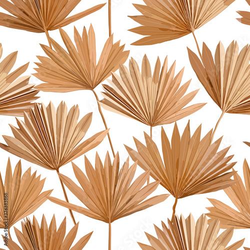 Tapety Boho   tropikalne-wektor-suche-palmy-pozostawia-wzor-akwarela-projekt-boho-tlo-na-slub-nadruk-na-tkaninie-egzotyczna-tapeta-tropikalna-tekstura-okladka-tlo-ozdoba
