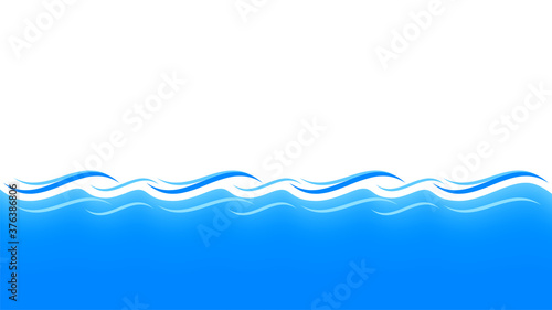 Fototapeta water waves blue for background, water ripples light blue and copy space, ocean sea surface for banner background, aqua flowing graphic obraz