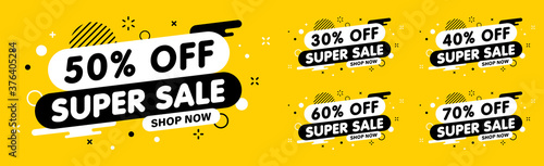 Fotografie, Obraz Sale banner, special offer and sale