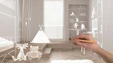 Empty White Interior With Herr...