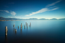 Wooden Pier Or Jetty Remains A...