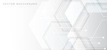 Abstract Banner Web White And ...