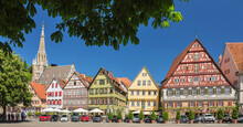 Frauenkirche Church And Kielmeyer House At Market Place, Esslingen, Baden-Wurttemberg