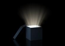 Magic Box With Glowing Light O...