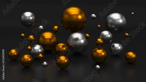 Tela Gold and silver balls