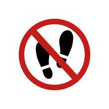 Icon Forbidden Legs Print Sign...