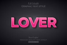 Lover Pink Editable 3D Text Style Effect Premium