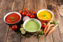 Bowl Of Vegetable Cream Soup- ...