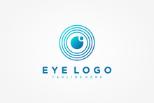 Abstract Eye Vision Logo. Blue...