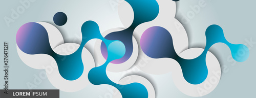 Fotografering Abstract network dot line connect on light background