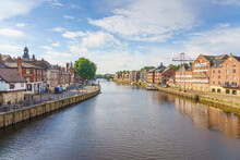 The River Ouse Runs Through The Historic City Of York, North Yorkshire, England
