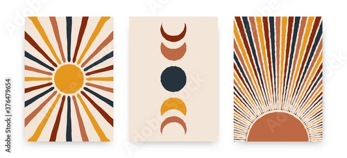Photo Abstract sun moon posters